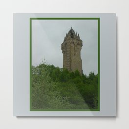 Wallace Monument in Scotland Metal Print