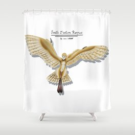 Barn Owl Harpy Shower Curtain