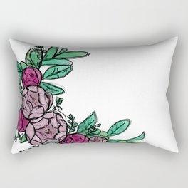 Roses Wreath Rectangular Pillow