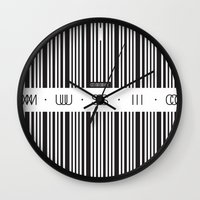 code Wall Clocks featuring Music Code by Sitchko Igor