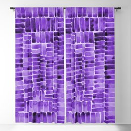 Watercolor abstract rectangles - purple Blackout Curtain