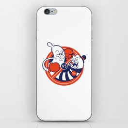 El CONDON VS El VIH! iPhone Skin