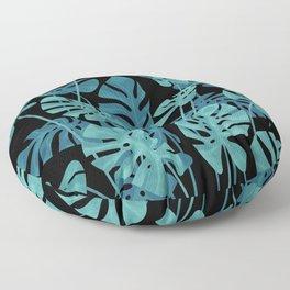 Graphic Monstera leaves. Floor Pillow
