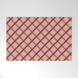 Bright Modern Grid Welcome Mat