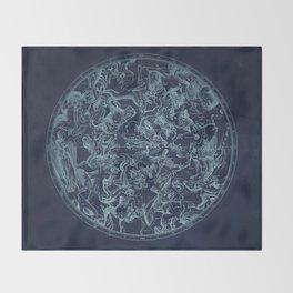 Vintage Constellation & Astrological Signs Throw Blanket