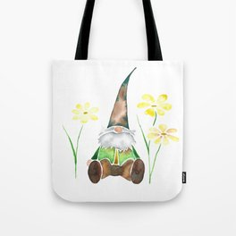 Gnome & Flowers Tote Bag