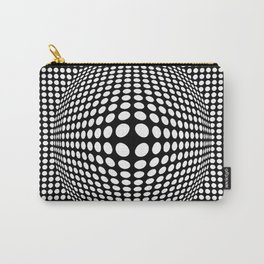 Black And White Victor Vasarely Style Optical Illusion Carry-All Pouch
