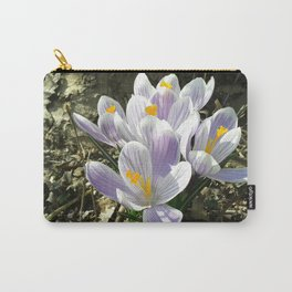 Spring crocus flowers Carry-All Pouch