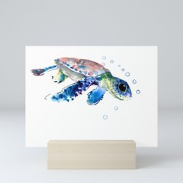 Sea Turtle Illustration Mini Art Print