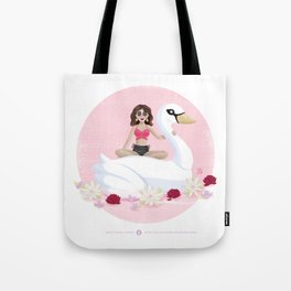 Summer Pool Party - White Swan Float E Tote Bag