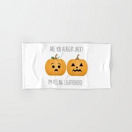 Lightheaded Jack-O-Lantern Hand & Bath Towel