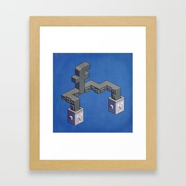 The powerful tentacles of Facebook — pixel art Framed Art Print
