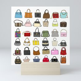 Fashion Lover -BAGS Mini Art Print