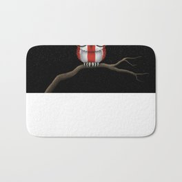 Baby Owl with Glasses and Puerto Rican Flag Bath Mat