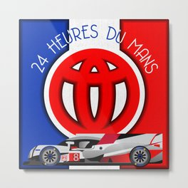 24 Hours of Le Mans - Toyota TS050 Metal Print