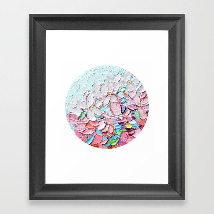 Yoshino Petals Gerahmter Kunstdruck