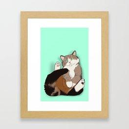 Cat in a Box III Framed Art Print
