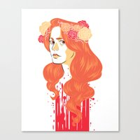 black widow Canvas Prints featuring Widow by barbitone