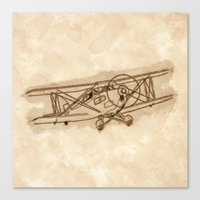 airplane Canvas Prints featuring Airplane by LaDa