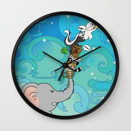 Reaching for the star Wall Clock