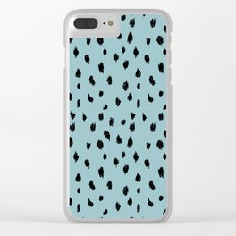 Seeing Spots in Robins Egg Clear iPhone Case