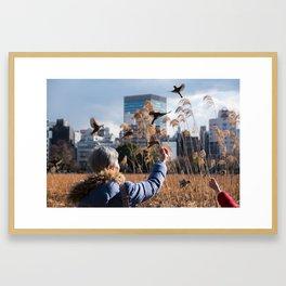 Lady of the birds. Framed Art Print