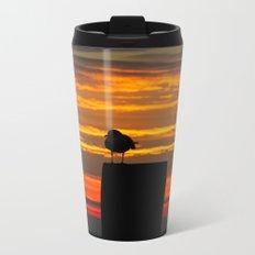 Gull at Sunrise Metal Travel Mug