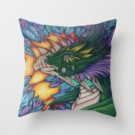 Forest Dragon Throw Pillow