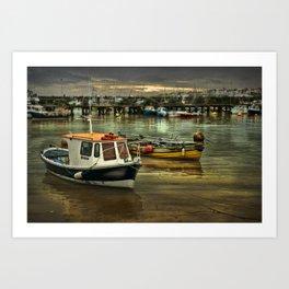 Harbour Reflections Art Print