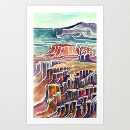 Canyonlands  Kat Ryalls Art Print