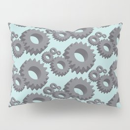Mechanical cogwheels in 3D Pillow Sham