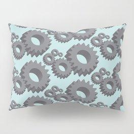 Mechanical cogwheels in 3D Pillow Sham
