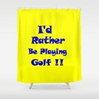golf Shower Curtains featuring Golf by Brian Raggatt