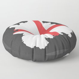 West Midlands map with flag of England illustration Floor Pillow