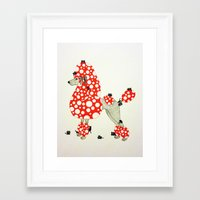 poodle Framed Art Prints featuring Poodle. by ruffgaws