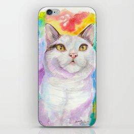 Dreamy White Cat iPhone Skin
