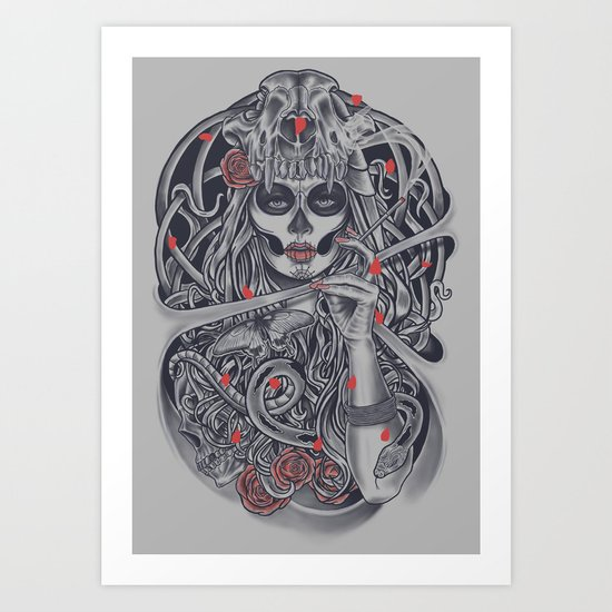 Madame Death Art Print