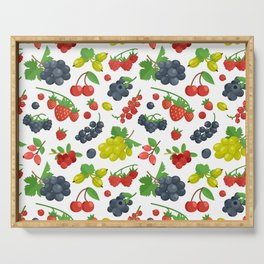 Colorful Berries Pattern Serving Tray