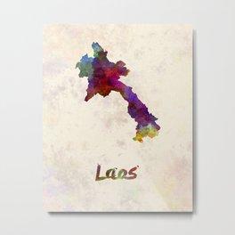 Laos in watercolor Metal Print