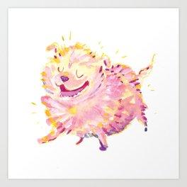 Pink Puppy Art Print