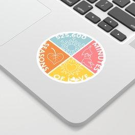 Seasons of Love Sticker