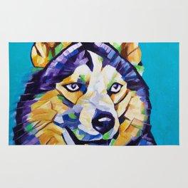 Pop Art Husky Rug