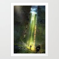maze runner Art Prints featuring The Maze Runner by TK Studios