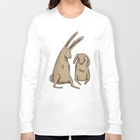 bunnies Long Sleeve T-shirts featuring Two Bunnies by Sophie Corrigan