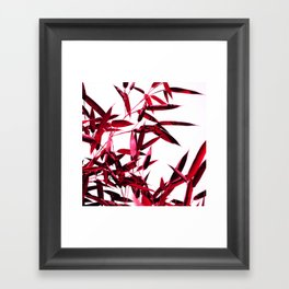 red bamboo abstract I Framed Art Print
