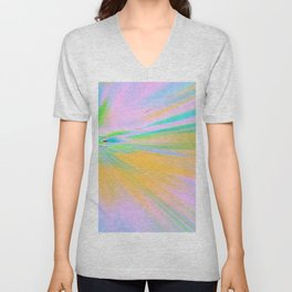 Re-Created Rapture 5 by Robert S. Lee Unisex V-Neck