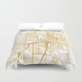 ATLANTA GEORGIA CITY STREET MAP ART Duvet Cover