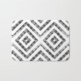 Grey Checkered Paattern Bath Mat