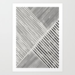 Black and White Stripes, Abstract Art Print
