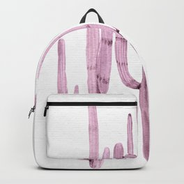 Cactus Trio Purple by Nature Magick Backpack